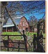 Still Useful Rustic Red Barn Art Oconee County Wood Print