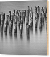 Still Waters Bw Wood Print