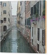 Still Waters In Venice Italy Wood Print