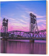 Stillwater Lift Bridge Wood Print by Adam Mateo Fierro