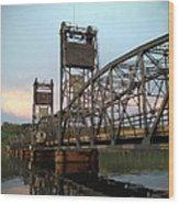Stillwater Lift Bridge Wood Print
