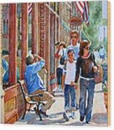 Stillwater Shoppers Wood Print