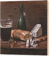 Stilton And Porter Wood Print by Timothy Jones