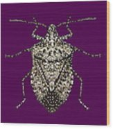 Stink Bug Bedazzled Wood Print