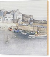 St.ives Cornwall England Wood Print