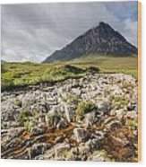 Stob Dearg Mountain Wood Print