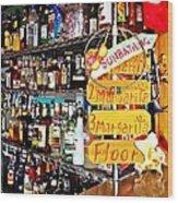 Stocked Bar At Jax Wood Print