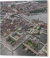 Stockholm Aerial View Wood Print by Lars Ruecker