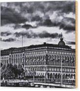 Stockholm Bw V Wood Print