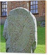 Stockholm History Stone Wood Print