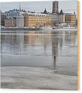 Stockholm Winter Wood Print