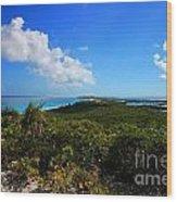 Stocking Island Exuma Bahamas Wood Print