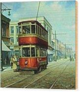 Stockport Tram. Wood Print