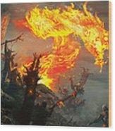 Stoke The Flames Wood Print