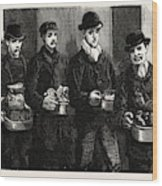 Stokers For The British Navy, Newly Joined Men Drawing Wood Print