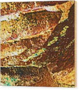 Stone Abstract 1 Wood Print