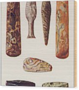 Stone Age Artifacts From Norway - Tools Wood Print