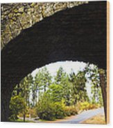 Stone Arch Wood Print