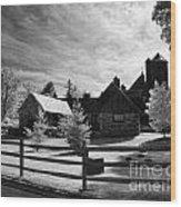 Stone Barn Wood Print