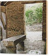 Stone Bench Wood Print