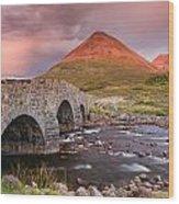 Stone Bridge Over Sligachan Wood Print