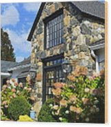Stone Building In Connecticut Wood Print