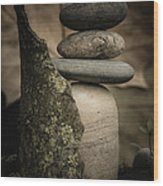 Stone Cairns IIi Wood Print