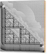 Stone Circuitry Wood Print