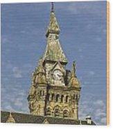 Stone Clock Tower Wood Print