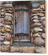 Stone Door Wood Print