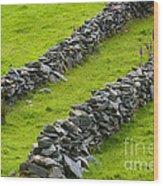 Stone Fences In Ireland Wood Print