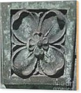 Stone Flower Wood Print