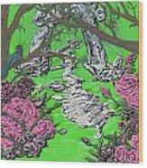 Stone Garden Wood Print