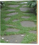 Stone Garden Walkway Wood Print