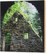 Stone House Doorway Wood Print