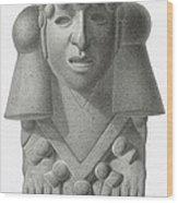 Stone Idol Of The Rain God Cocijo Wood Print