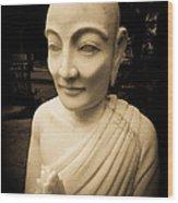 Stone Monk Wood Print