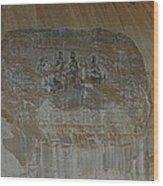 Stone Mountain Mural In Brown Wood Print