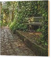 Stone Path Through A Forest Wood Print by Jess Kraft
