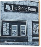 Stone Pony Cool Side View Wood Print