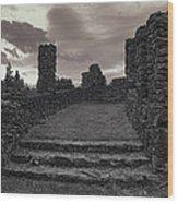 Stone Ruins At Old Liberty Park - Spokane Washington Wood Print by Daniel Hagerman