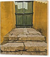 Stone Stair Entranceway  Wood Print