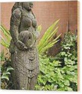 Stone Statue In Bali Indonesia  Wood Print