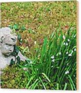 Stone Statue Wood Print
