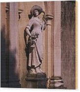 Stone Statue Woman  Wood Print
