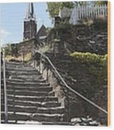 Stone Steps And Saint Peters Church At Harpers Ferry Wood Print