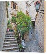 Stone Streets Of Old Trogir Wood Print