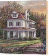 Stone Terrace Farm Wood Print
