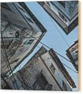 Stone Town From Below Wood Print