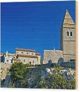 Stone Town Of Lubenice In Croatia Wood Print